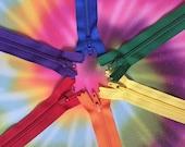 Assorted Rainbow YKK Zippers~ 14 pieces~ Pick your length~ZipperStop Wholesale Authorized Distributor YKK®