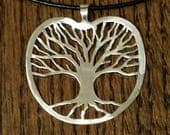 Handmade for Sherry Sterling Silver Tree of Life Pendant