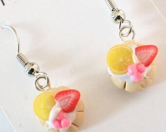 Strawberry&Lemon Tart Earrings
