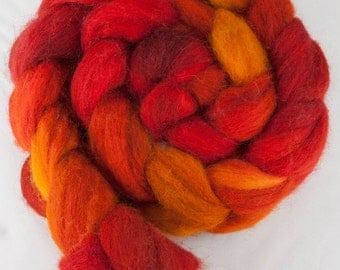 Flame - SW BFL Roving 4oz
