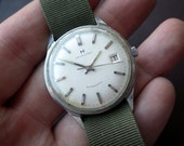 Vintage Stainless Hamilton Watch Automatic - 1960s - Men's Watch