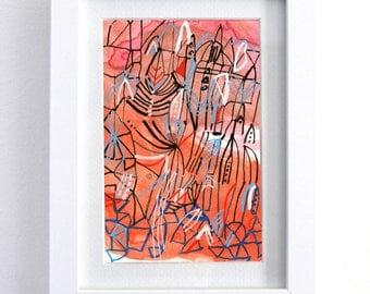 "red river - original 6"" x 8"" watercolor painting"