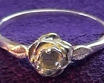 14kt. Yellow or White Gold ~ 3mm Round Petite Birthstone Ring setting ~ Custom sized from 4 to size 11  ~ to be ordered ~ #875300 ~  FDK