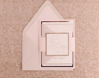 Foil - Fancy Neutral Romantic Wedding Invitations - SAMPLE (JESSICA)