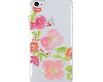Laura Trevey iPhone Case  - Diagonal Floral