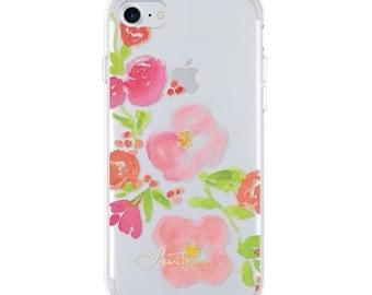 Laura Trevey iPhone Case  - Diagonal Floral