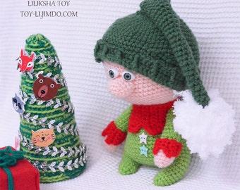 Christmas Elf Michelle - Amigurumi Pattern