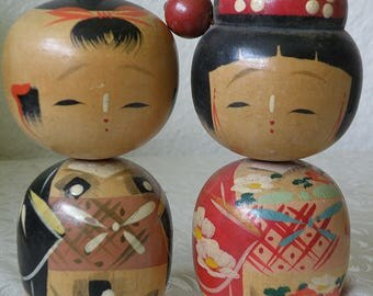 Large Kokeshi Dolls Bobble Heads