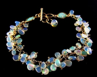 25 % OFF Ethiopian Opal Heishi With Gold Filled Bracelet