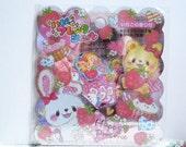 Kawaii Sticker Flakes - Sweets Animals - 71 Pieces (24342)