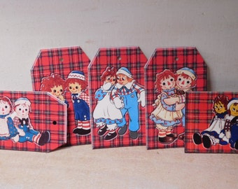 Raggedy Anne and Raggedy Andy Gift Tags - Set of 15