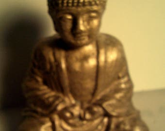 Latex SMALL BUDDHA MOLD for Plaster or Concrete