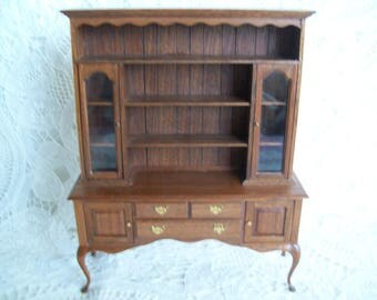 Miniature, hand made, one inch scale, Hutch by Jon Hinrichsen in 1983