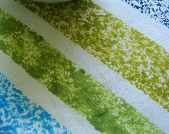 Blue Kitchen Towel, Hand Dyed Linen Kitchen Towel, Blue Dish Towel, Blue Tea Towel, Blue Linen Towel, Blue Hand Dyed Linen Towel