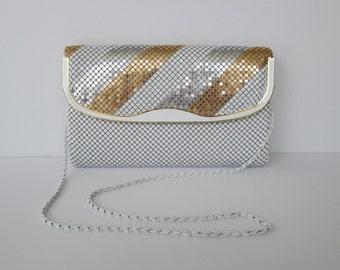 Y & S Original Metal Mesh Whiting Davis style Clutch or Shoulder Bag