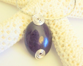 Amethyst Pendant, Wire Wrap Pendant, Pendant Necklace, Handcrafted Jewelry, Gemstone Jewelry, Gift for Her