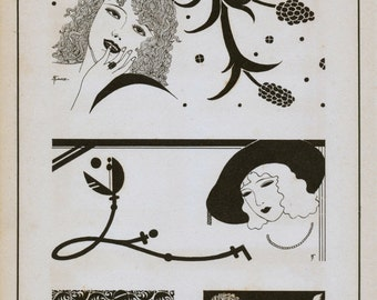 Vintage Japanese Art Deco Prints - No. 69