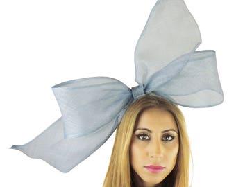 Dusky Blue Fascinator Hat for Kentucky Derby, Weddings on a Headband (40 colours available)
