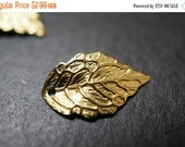 MARCH DEALS USA Made High Quality Solid Brass Tree Leaf Charm Pendants-18mm x10mm - 10 pcs