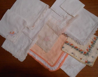 Vintage lot of a Dozen Hankies