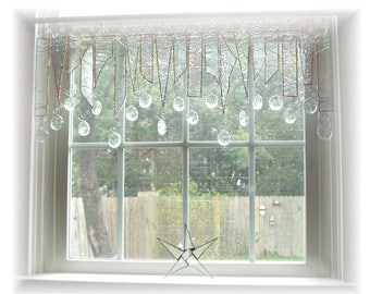 Clearly Pretty NUMBER ONE Textured Stained Glass Window Treatment Kitchen Valance Curtain