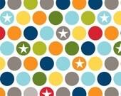 SALE FABRIC - Military Max Dots  - Military Dots - Riley Blake Fabrics - 100% Cotton  - 1 yard - Aqua, Green, Gray, Yellow, Red, Orange