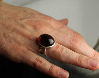 Red Cabachon Ring