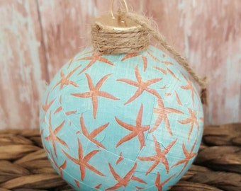 Beach Ornaments, Beach Christmas Ornaments, Starfish Ornaments, Christmas Ornaments, Beach Christmas