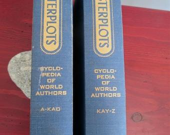 Masterplots Cyclopedia of World Authors, 1958 2 vols Eds Magill  Kohler 1st ed 750 + authors Pierre Abelard to Arnold Zweig Encyclopedia