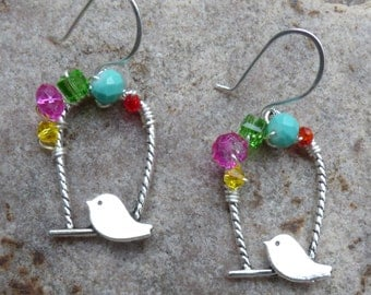 Adorable Birdie Earrings~FREE SHIPPING!