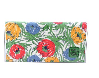 Bi-fold Plus - Asters in blooms - vintage fabric