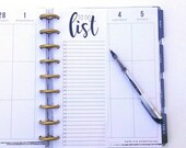 Happy Planner Inserts, To Do List, Notes, Happy Planner List, Planner Inserts, To Do List (12)