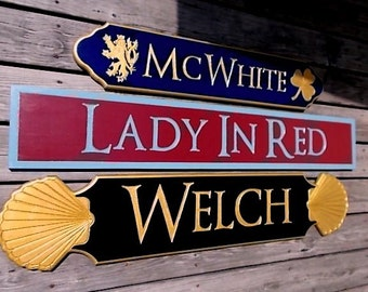 Quarterboard Signs . . Beach House sign . . Cottage sign . . Lake House sign. . Personalized Family Signs. . Custom signs .