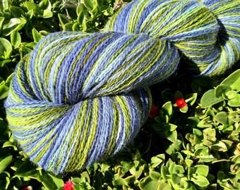 Hand dyed yarn, Alpaca yarn, Lambswool yarn, Hand painted yarn, Indie dyed, lambswool,  620 yard skein Gentian