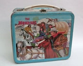 Vintage Metal Lunchbox The Monroes 1967 frontier wilderness TV show Grand Teton Jackson Wyoming