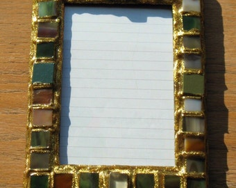Stained Glass Glitter Picture Frame (holds a 4 x 6 photograph)