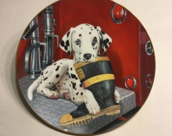 """Dalmatian Plate """"Caught in the Act"""""""