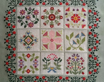 Baltimore Album, Quilt Inspired Cross Stitch PDF Pattern, Carolyn Manning Designs