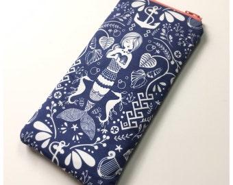 Eyeglass/Sunglass Case Pouch- The Blue Mermaid