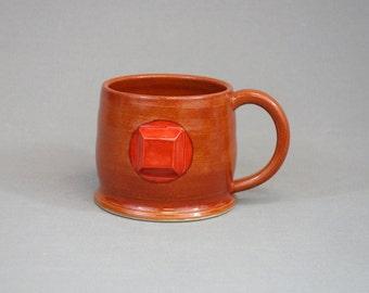 Ruby Mug: Crystal Gem Inspired Steven Universe Ceramic Coffee Mug
