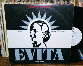 Evita Premiere Vintage Vinyl Double Album Music Soundtrack