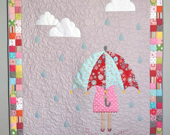 Rainy Day Quilt Kit includes Pattern and Pre-Cut Bias Binding