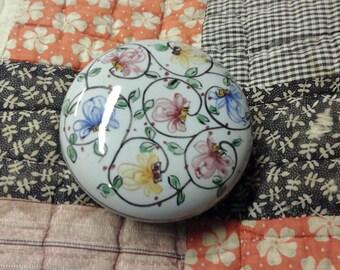 Vintage Portugese Handpainted Trinket Box