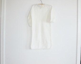 SALE // Vintage White Baby Knit Sleep Sack