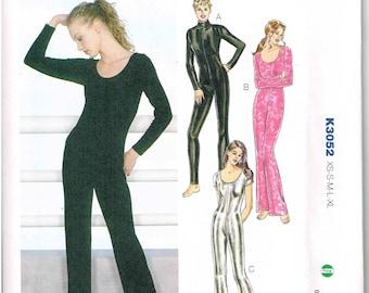Misses Unitard  CatSuit Workout Exercise Wear Close Fitting Kwik Sew 3052 Size XS S  M L XL XL Chest 31.5 32.5 34 35.5 37 38.5 40 41.5 43 45