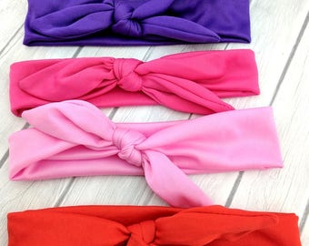 CLOSEOUT-Baby Top Knot Headband-Baby Knotted Headband-Top Knot Headbands