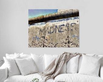 Madness - Graffiti Art Canvas Print - Berlin Wall - Berlin Print - Berlin Graffiti - Photo on Canvas - Street Art Berlin  Canvas Print 16x20