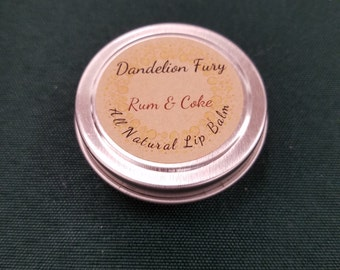 All Natural Rum & Coke Lip Balm Tin