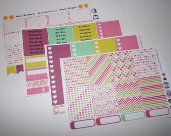 Rainbow Candy Weekly Sticker Kit / Great for your vertical Erin Condren Life Planner