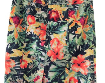 Vintage jungle pencil skirt size M
